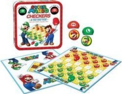 USAOPOLY - Super Mario Checkers / Tic Tac Toe Collector's Game Set by USAopoly