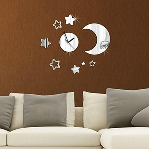 WYMBS Gifts home decor DIY spell wall sticker clock Acrylic DIY wall sticker wall stickers wall stickers clocks clocks home decor mirror wall clock