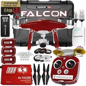 DJI Phantom 4 Falcon Edition Kit w/ Firebridge Long Range System, Nanuk 950 Wheeled Case, 3 Batteries, Thor Charger, Carbon Fiber Props & Guards, Phantom4 Pro Lens Filters, 64GB Card