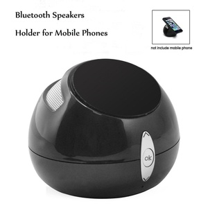 Jinwode Bluetooth Portable Wireless Speaker with Enhanced Bass Computer Speaker with Mobile Phone Holder Function Compatible with iPhone iPad Samsung and More Black