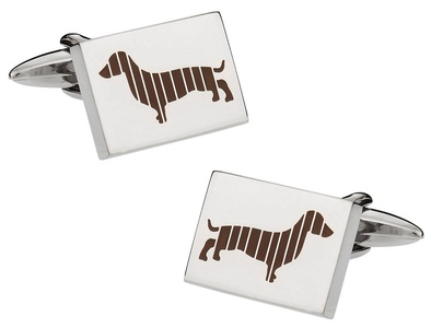 Dachshund Stainless Steel Cufflinks