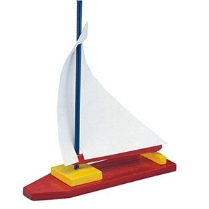 Unfinished Wooden Sailboat, Unassembled (pack of 12) by S&S