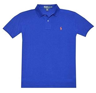 Polo Ralph Lauren Custom Fit Mesh Polo Shirt for Men dark blue S