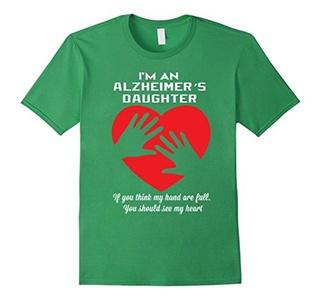 Men's I am an alzheimer's daughter T-shirt Small Grass