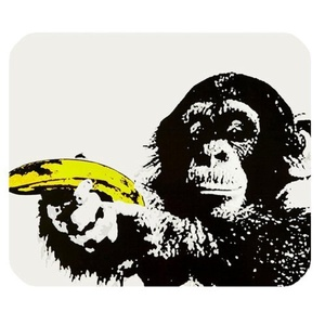 DreamOffice-Custom Monkey Mouse pad Gaming Mouse Mat Cloth Cover Support Wired Wireless or Bluetooth Mouse,9.84