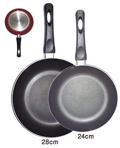 Non-Stick Coating Fry Pans - Set of 2 X 24cm & 28cm
