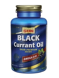 Health From The Sun Black Currant Oil 1000 mg 60 Capsules by Health From The Sun