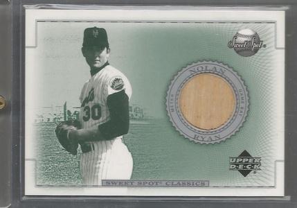 2002 Sweet Spot Classic Baseball Nolan Ryan Game Used Bat Card # B-NR