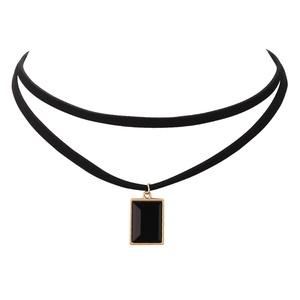 Vintage Black Velvet Choker Rece Crystal Gothic Stretch Punk Necklace Black