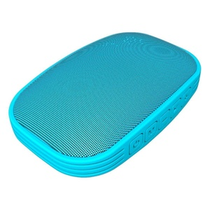 HLS S325 Portable Bluetooth Speaker Mini Wireless Outdoor & Shower Waterproof Speakers with 5W Driver, Mic, FM Radio, TF Card Slot - Pairs with iPhone, Samsung and Other Bluetooth Devices - Blue