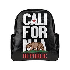 California Republic Unisex Pu Leather Computer Laptop Backpack, Travel Bag Hiking Knapsack,School College Student Backpacks Shoulder Bags For Women/Girls,Men/Boys