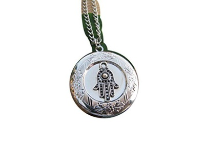 Hamsa Photo Locket Pendant Necklaces, Hand of Fatima pendant Hand of Fatima , Hamsa necklace