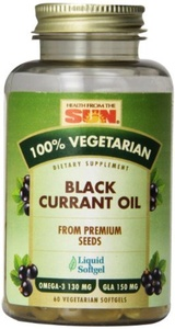 Health From The Sun, 100% Vegetarian Black Currant Oil, 60 Veggie Softgels by Health From the Sun /Arkopharma