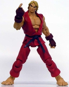 Street Fighter Ken Action Figure (Red Costume) by Street Fighter