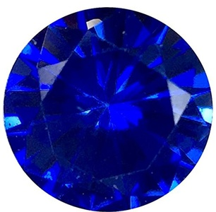 Loose Precision Cut Blue Sapphire Gemstone, Round Shape, Grade AAA, 3.00 mm in Size, 0.12 Carats