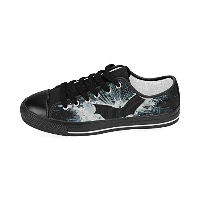 H-MOE Art Batman Men's Canvas Shoes Low-top Lace-up Breathable Sneakers,Black