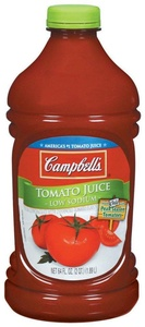 Campbell's Tomato Juice, Low Sodium, 64 Ounce