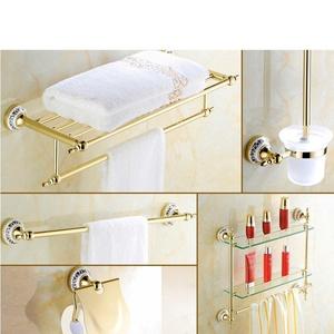 Golden Towel rack/Gold-plated stainless steel European style Towel rack/Bathroom Bathroom accessories-N