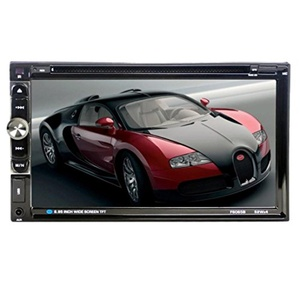 Leewos GPS Navigation Double DIN 7'' Bluetooth Stereo DVD Player Compatible with iPod Car Stereo FM Rearview + Remote Control
