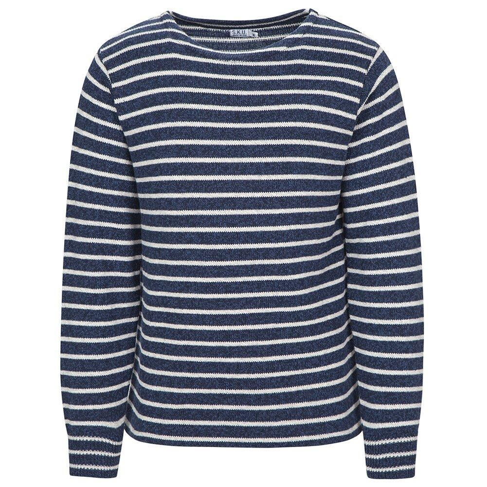 Save Khaki Men's Ragg Sweater SK366 Marine Stripe SZ L