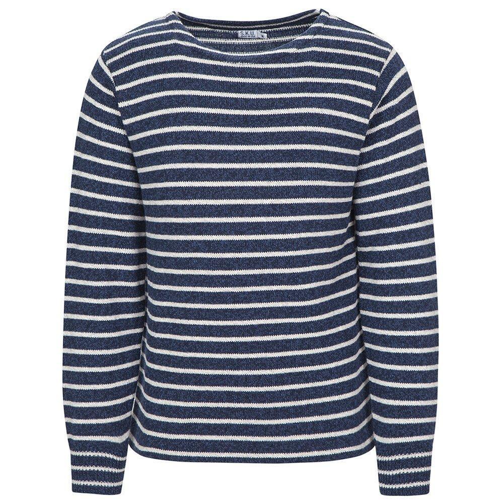 Save Khaki Men's Ragg Sweater SK366 Marine Stripe SZ S