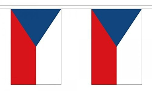Czech Bunting 9M Metre Length With 30 Flags 9X6 100% Woven Polyester by Denmark