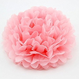 Sorive 5pcs Tissue Paper Pom-poms Flower Ball Wedding Party Outdoor Decoration Wedding / Baby Shower / Birthday Party / Nursery Decorations (12 Inch, Pink)
