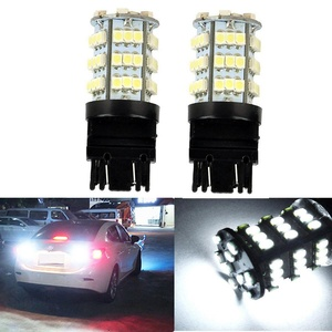 KATUR 2 x White 7443 1210 54-SMD 800 Lumens LED Turn Signal Light Bulb 12V Replacement for Car Incandescence Bulb Interior RV Camper Bulb Tail Brake Stop Parking Lights 5W