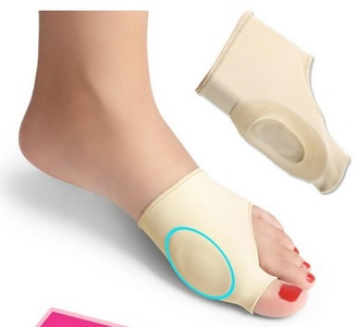 2Pcs Bunion Gel Sleeve Hallux Valgus Foot Pain Relieve Feet Care Silicon Insoles Socks (for man)