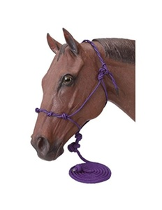 Tough-1 Halter Knotted Rope Twisted Crown Training 14' Lead 50-1095