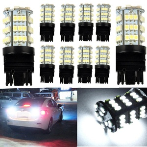 KATUR 10 x White 7440 1210 54-SMD 800 Lumens LED Turn Signal Light Bulb 12V Replacement for Car Incandescence Bulb Interior RV Camper Bulb Tail Brake Stop Parking Lights 5W