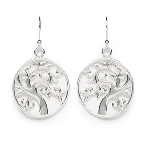 Tomas Sterling Silver Tree of Life Hook Earrings