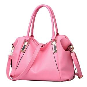 Small Ants Womens Top Handle Handbag PU Fashion Shoulder Bag Daypack (Pink)