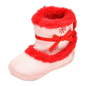 Sagton Baby Girls Warm Flats Cotton Boot Toddler Prewalker Crib Shoes (US:3.5)