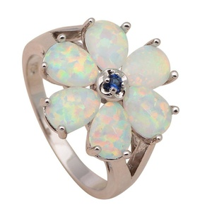 FT-Ring Green Fire Opal Jewelry For Women Engagement Wedding Bridal Rings (6)