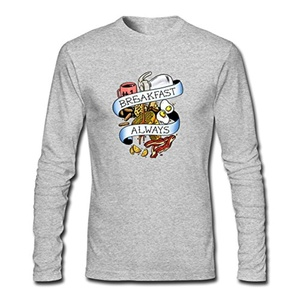 Eat_Hardy for Men Printed Long Sleeve Cotton T-shirt