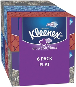 Kleenex Everyday Facial Tissues, High Count Flat, 1020 Count