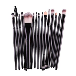 AMarkUp 15 Pieces Eye Shadow Makeup Brush Set Face Eyeliner Eyebrow Foundation Cosmetics Blending Brushes Tool (Black)