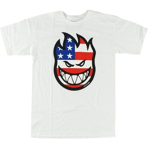 Spitfire Flaghead T-Shirt - Size: LARGE White