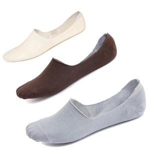 Imaly Men's Cotton No Show Socks Anti-Slip Low Cut Liner Boat Socks 3 Pairs
