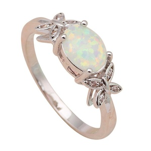 FT-Ring Cool White fire Opal Jewelry For Women Engagement Wedding Bridal Rings (9)