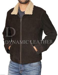 Men's Wallking Dead Rick Grimes Suede leather jacket- Season 4