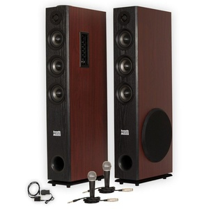 Acoustic Audio TSi650 Bluetooth Powered Floorstanding Tower Multimedia Speakers with Optical Input and Mics TSi650DM2
