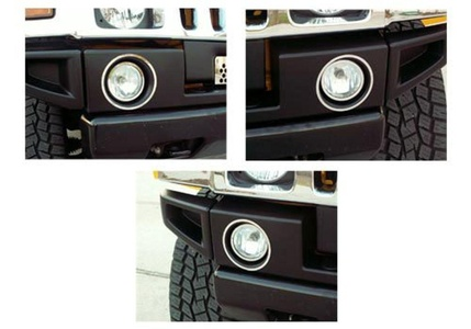 American Car Craft Hummer H2 Stainless Steel Driving Light Trim Rings - 492001