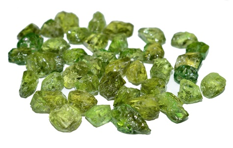 Peridot Arizona rough & clean gemstone lot for facet cutting 130.5 carat
