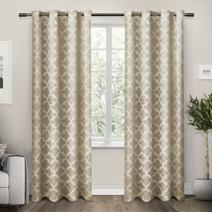 Exclusive Home Cartago Insulated Woven Room Darkening Grommet Top Window Curtain Panel Pair,  54x108, Taupe