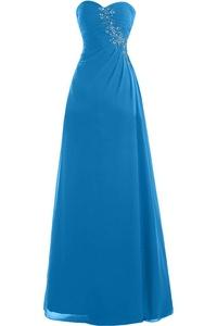 Gorgeous Bridal Sweetheart Chiffon Long Bridesmaid Dress Evening Party Dress Simple- US Size 24W