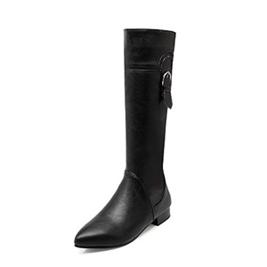 AIWEIYi Womens Pointed toe Knee High Boots Fur Lining Warm Winter Riding Boots