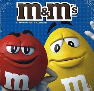 2017 M&M's Chocolate Candy Coated 12 Month Wall Calendar by M&M's