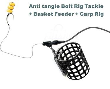 Carp Anti tangle Bolt Rig Fishing Tackle + Basket Fishing Feeder + Carp Rig